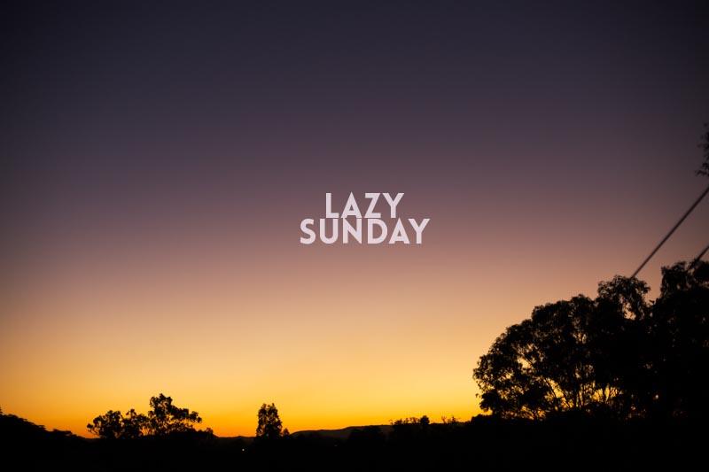 Lazy Sunday // The Sugar Hit