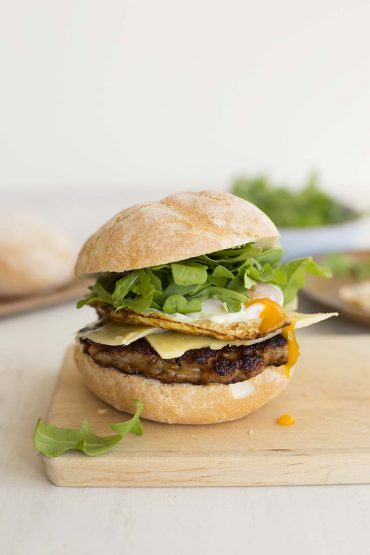 Sweet Paprika Sausage Breakfast Burgers // The Sugar Hit