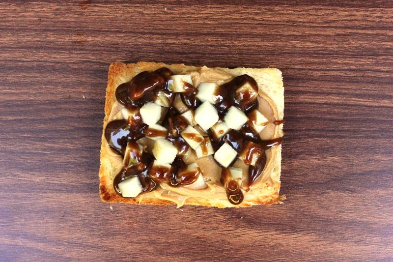 Apple, Peanut Butter and Butterscotch Fairy Bread Recipe
