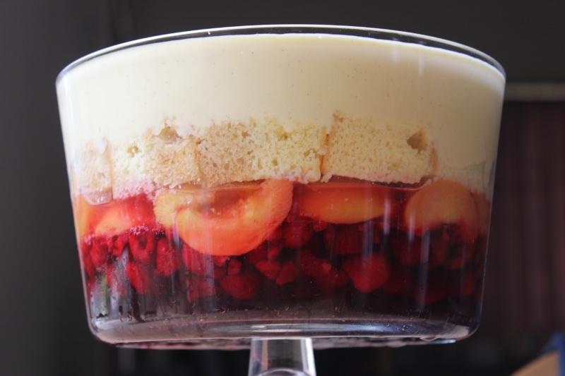 Peach Melba Trifle Recipe
