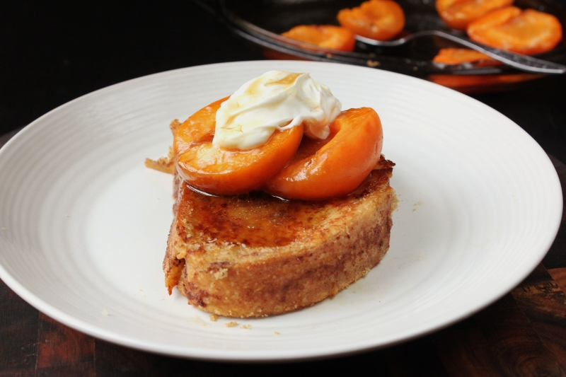 Gingerbread French Toast with Roast Apricots
