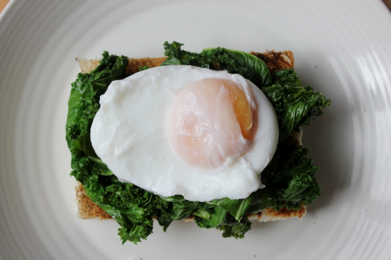 Kale Eggs Florentine Recipe