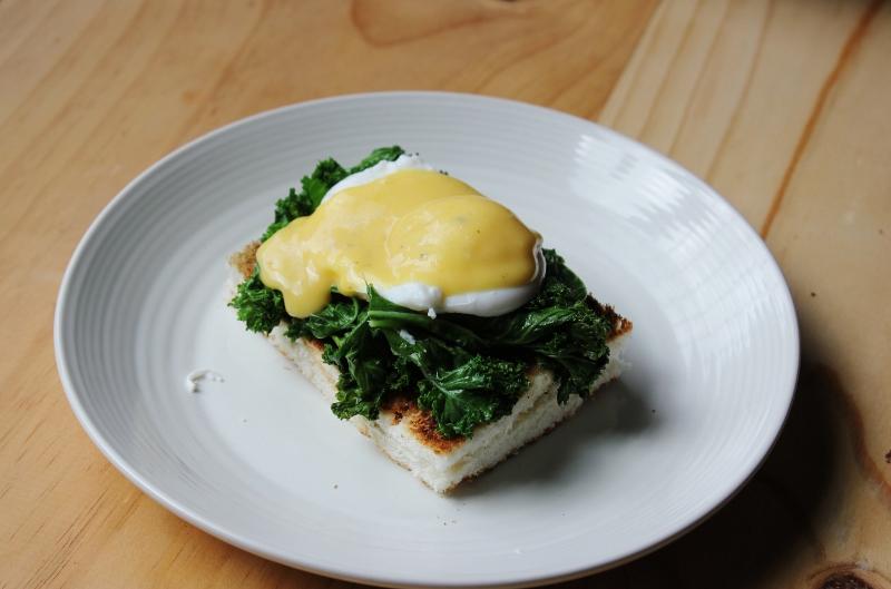 Kale Eggs Florentine Recipe