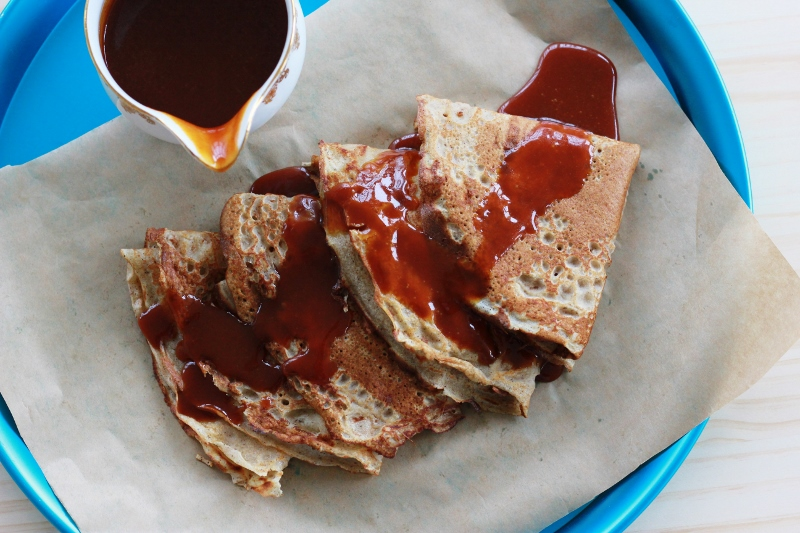 Buckwheat Crepes with Salted Caramel - The Sugar Hit