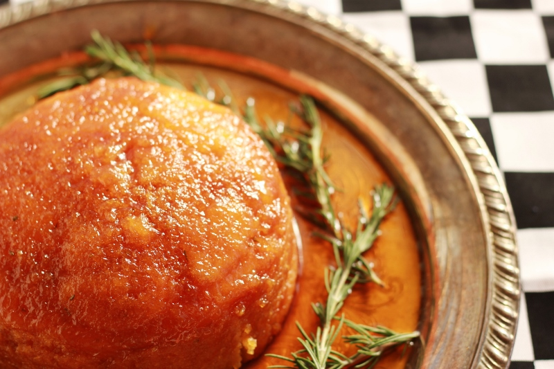 Golden Lemon Rosemary Syrup Pudding - The Sugar Hit