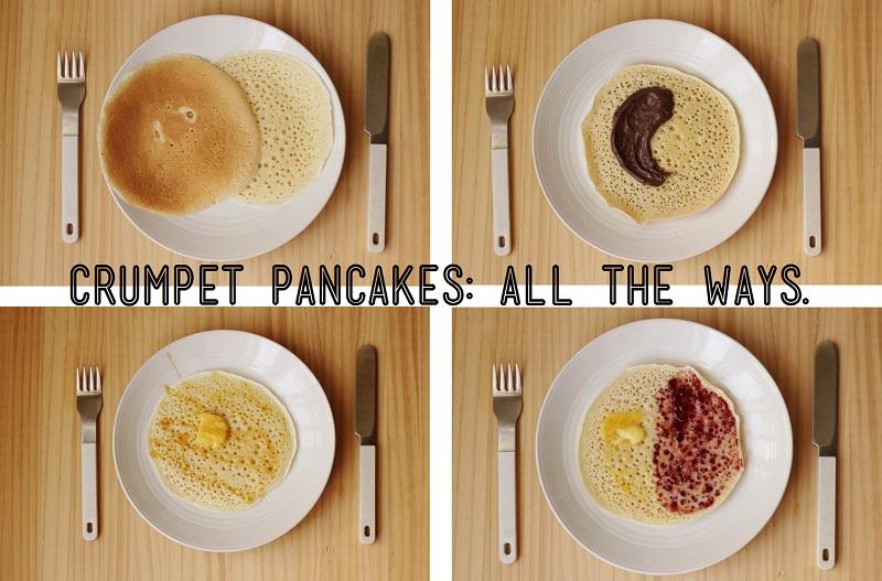 Crumpet Pancakes / TheSugarHit.com