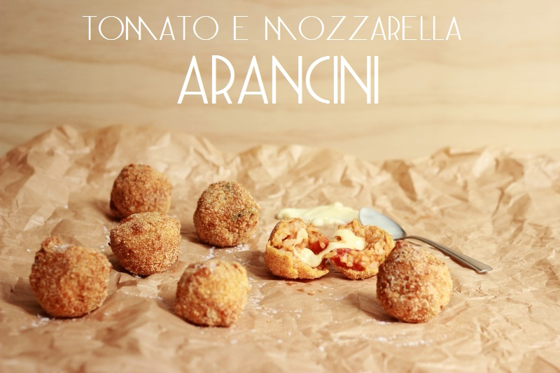 Tomato and Mozzarella Arancini // TheSugarHit.co