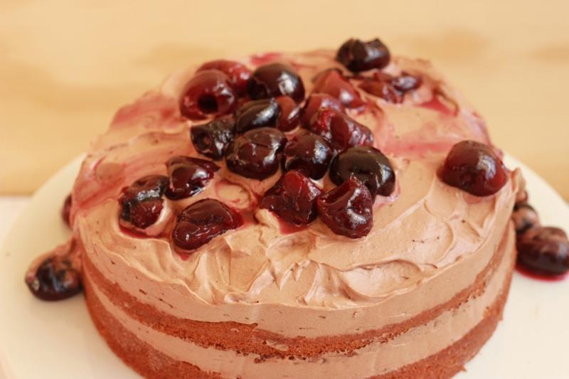 Birthday Black Forest Cake | TheSugarHit.com