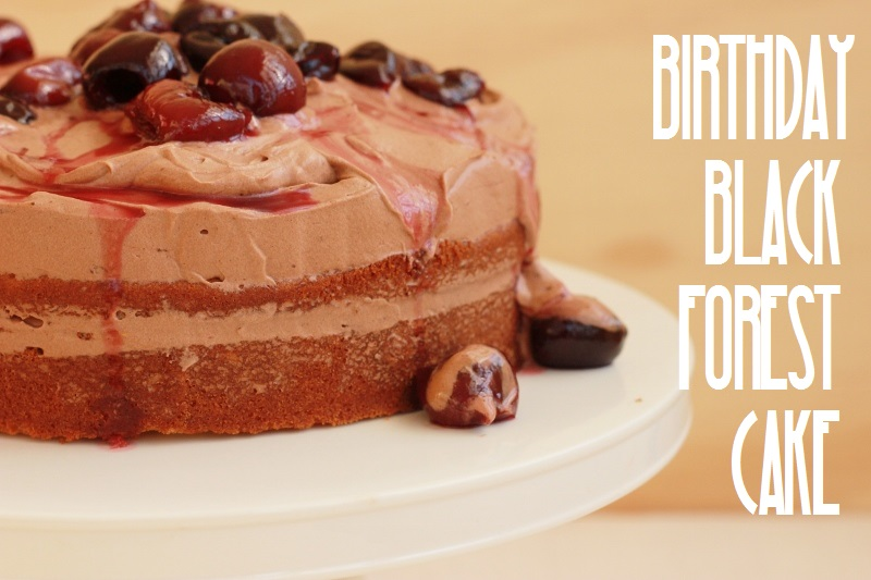 Birthday Black Forest Cake | TheSugarHit.com