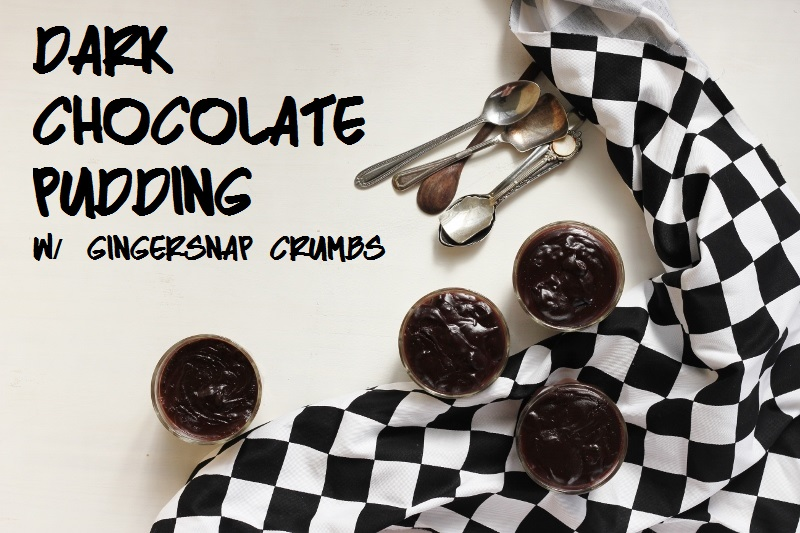 Dark Chocolate Pudding with Gingersnap Crumbs // TheSugarHit.com