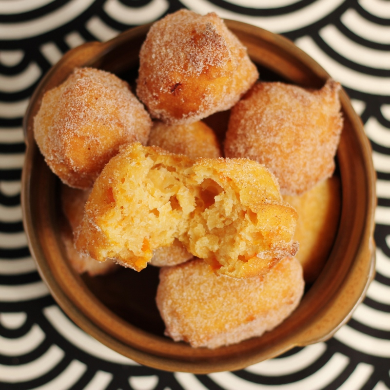 Vegan Sweet Potato Doughnuts with Spiced Sugar | TheSugarHit.com