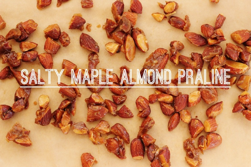 Salty Maple Almond Pralines | TheSugarHit.com