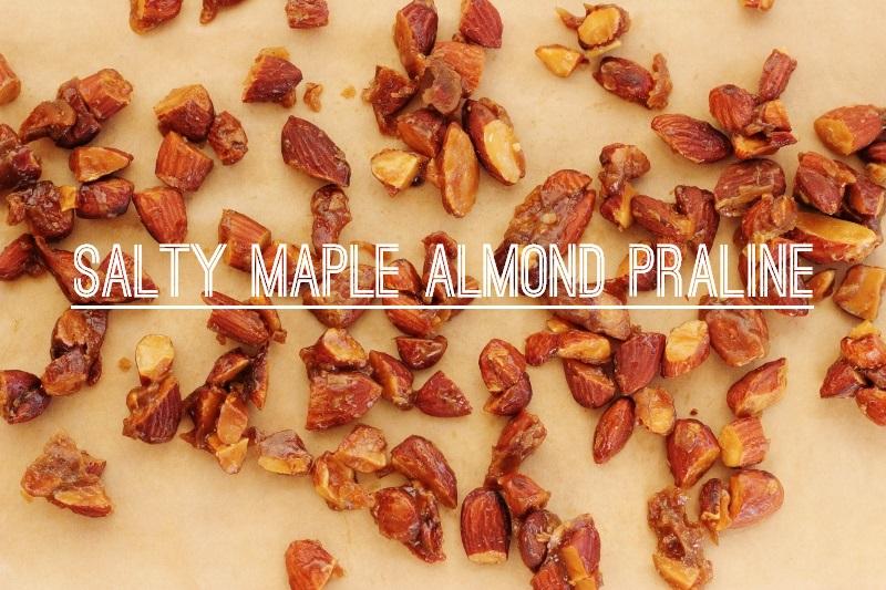 Salty Maple Almond Pralines | TheSugarHit.com