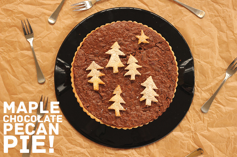 Maple Chocolate Pecan Pie | The Sugar Hit