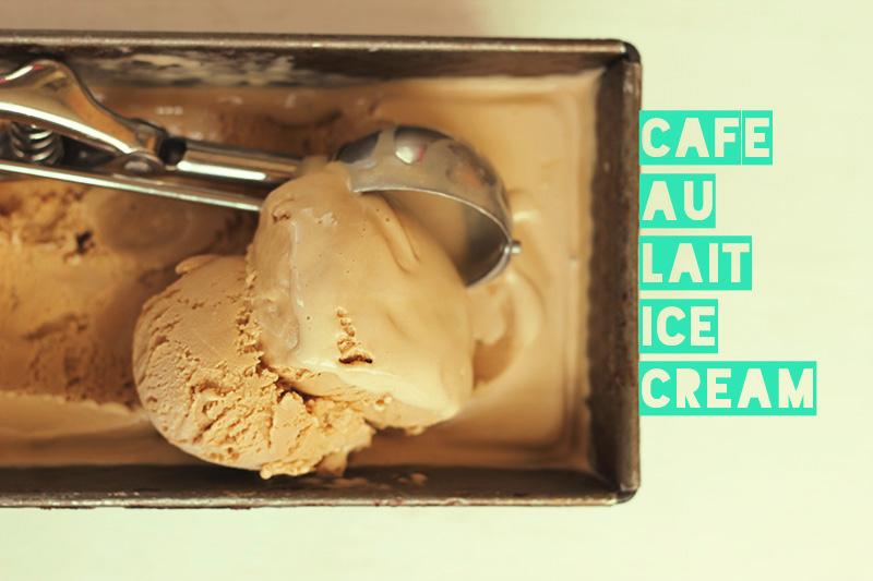 Cafe Au Lait Ice Cream | The Sugar Hit