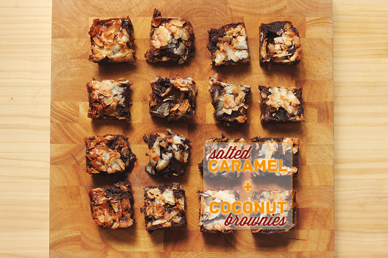 Salted Caramel and Coconut Brownies | The Sugar Hit