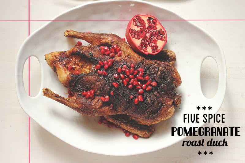 Five Spice Pomegranate Roast Duck | The Sugar Hit