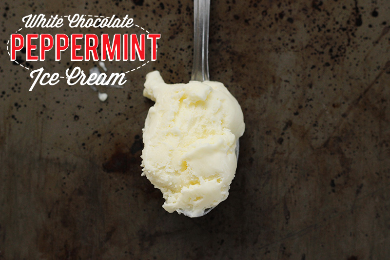 White Chocolate Peppermint Ice Cream | The Sugar Hit