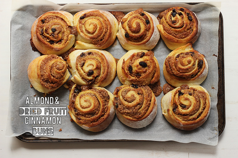 Almond and Dried Fruit Cinnamon Buns | The Sugar Hit