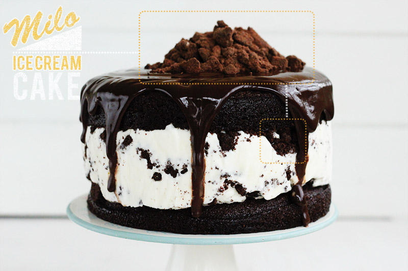 Milo Ice Cream Cake | The Sugar Hit