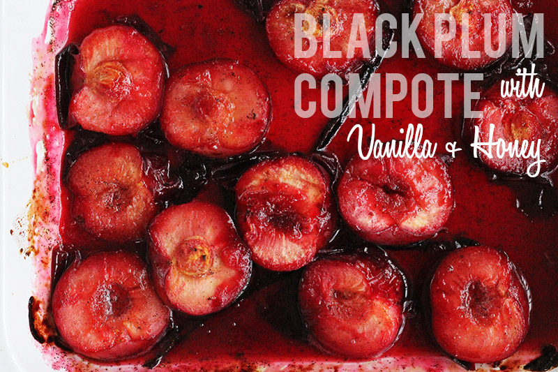 Black Plum Compote | The Sugar Hit