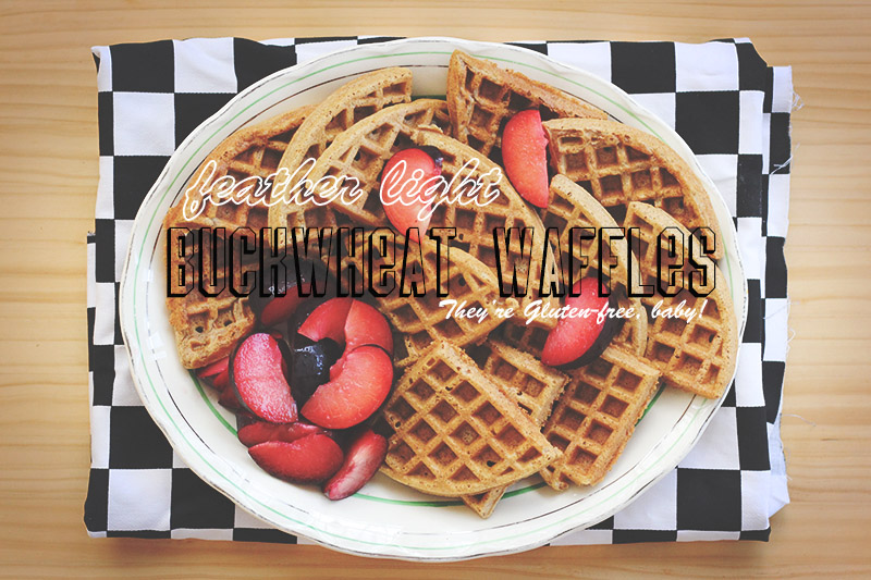 Feather-light Buckwheat Waffles | The Sugar Hit