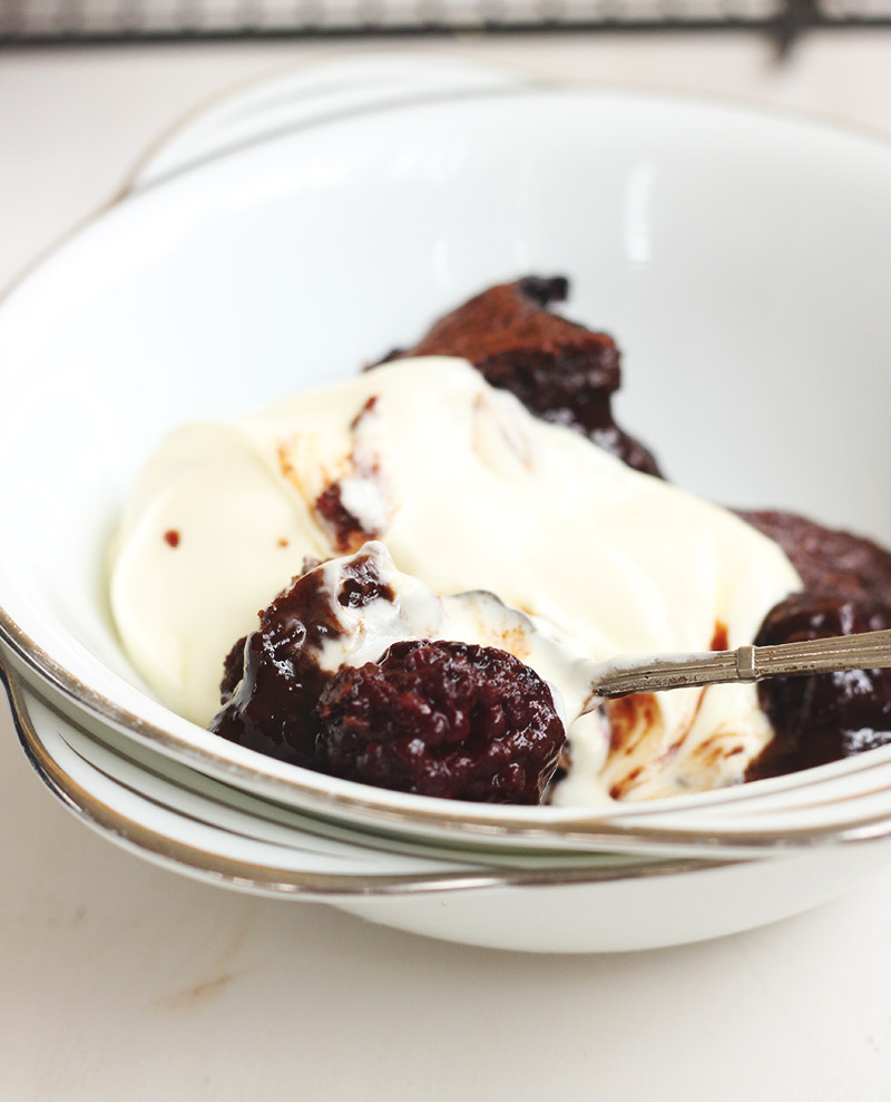 Chocolate Blackberry Pudding | The Sugar Hit