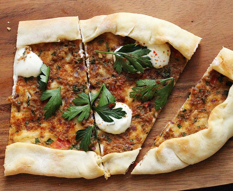 Turkish Lamb Pizza | The Sugar Hit
