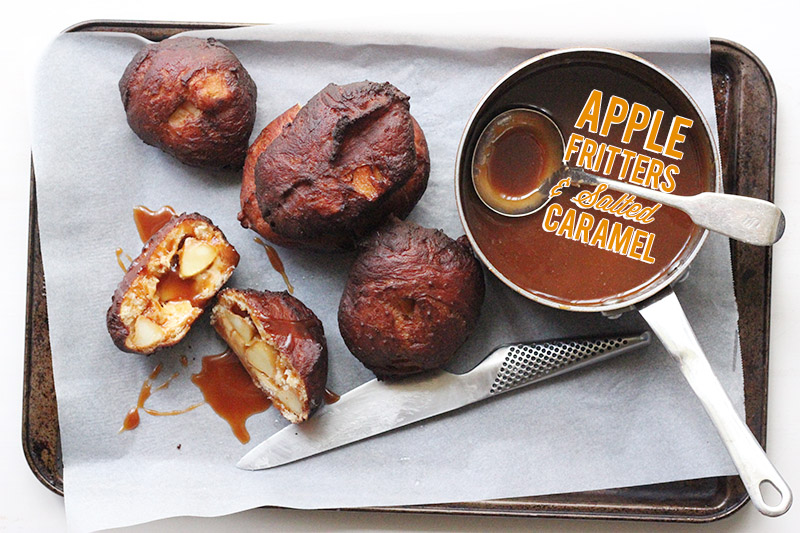 Apple Fritters with Salted Caramel | The Sugar Hit