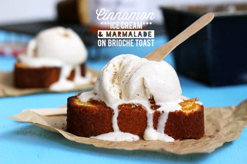 Cinnamon & Marmalade Brioche Sundae | The Sugar Hit
