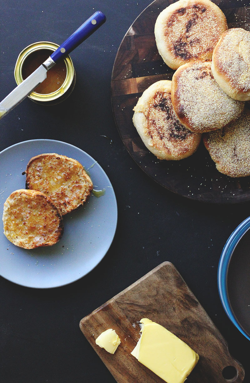 Honey Whole Wheat English Muffins | The Sugar Hit!
