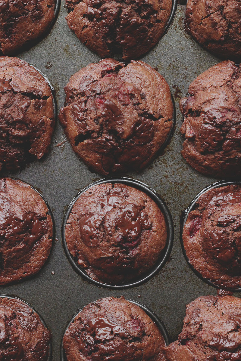 Chocolate and Raspberry Muffins | The Sugar Hit