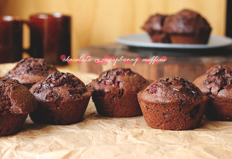 Chocolate and Raspberry Muffins   The Sugar Hit