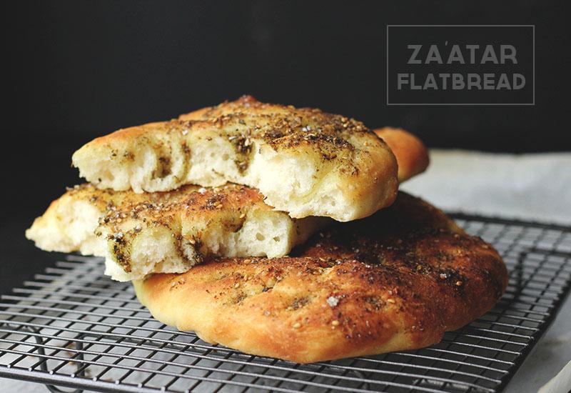 Za'atar Flatbread | The Sugar Hit