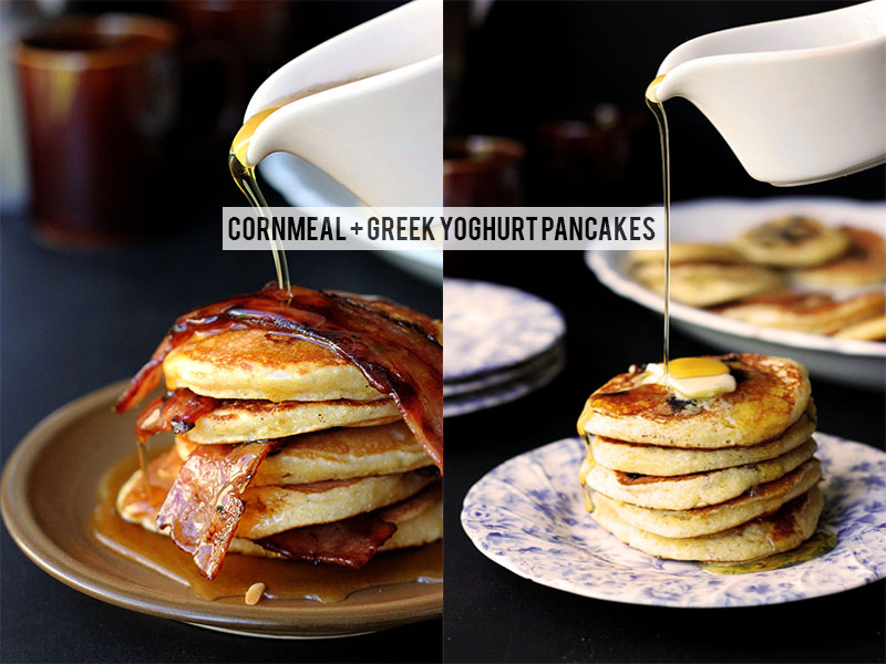 Cornmeal & Greek Yoghurt Pancakes | The Sugar Hit!
