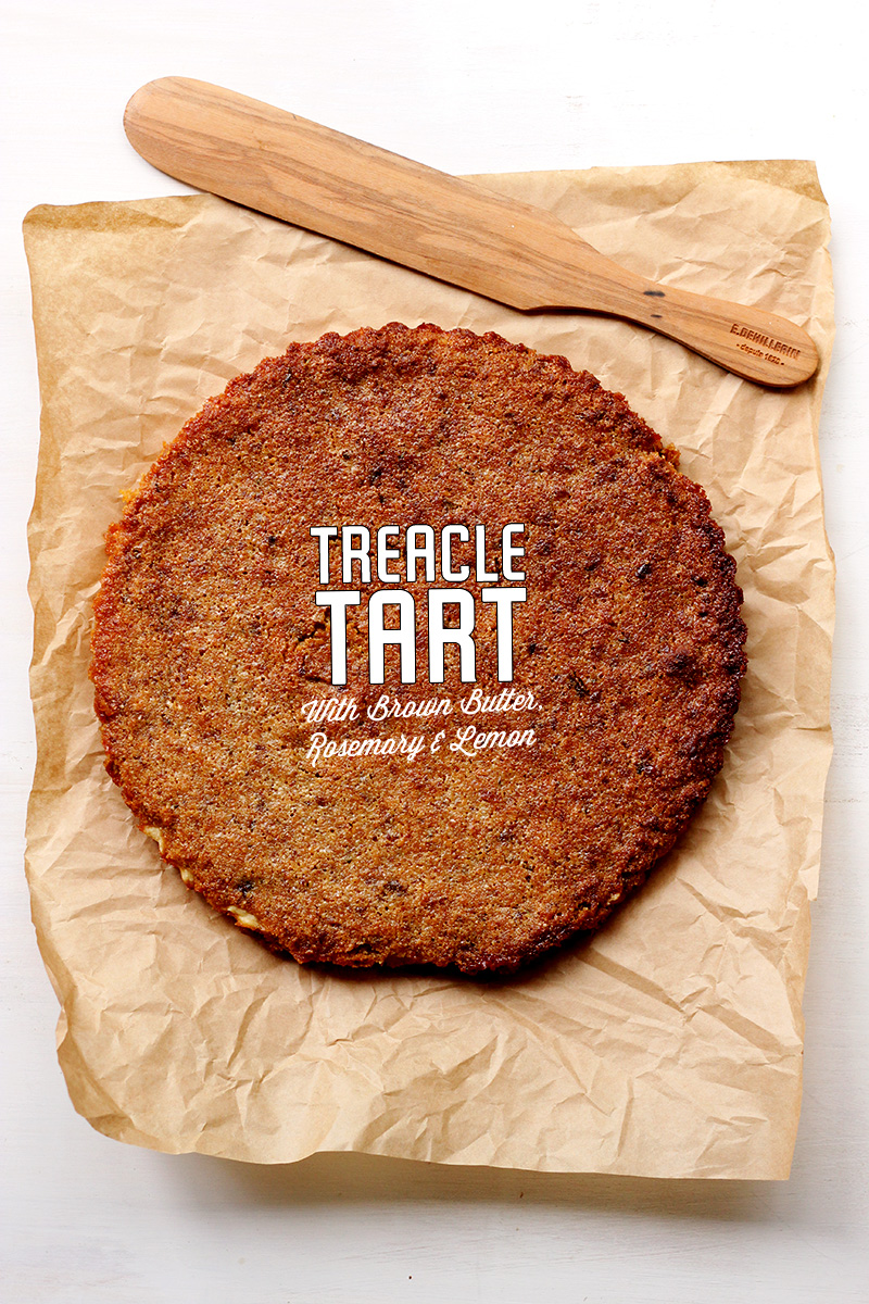 Treacle Tart with Brown Butter and Lemon | The Sugar Hit!