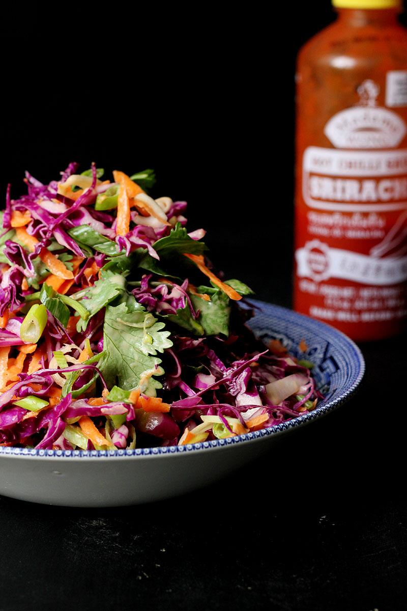 Sriracha + Coriander Coleslaw | The Sugar Hit