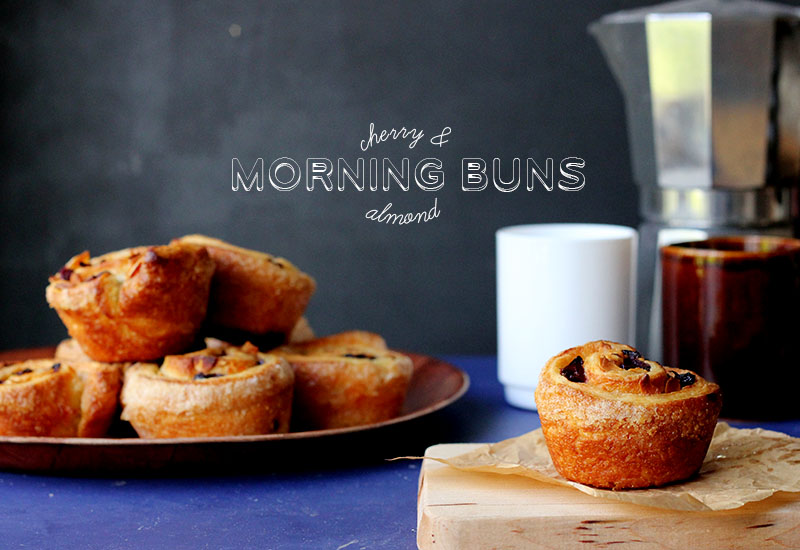 Flaky, buttery and simple Cherry & Almond Morning Buns | The Sugar Hit