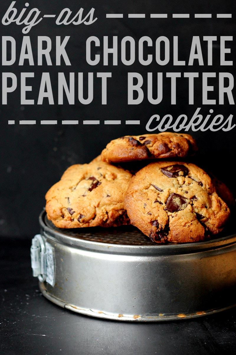 Dark Chocolate Peanut Butter Cookies | The Sugar Hit