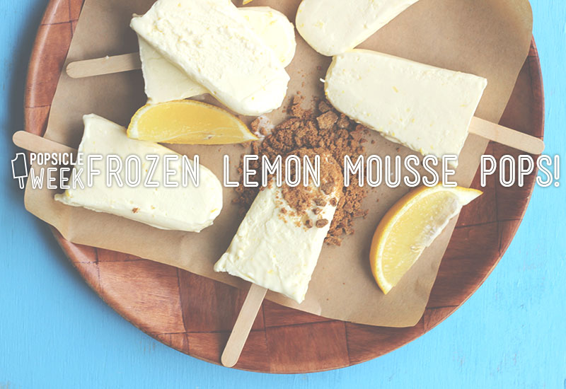 Frozen Lemon Mousse Pops ! | The Sugar Hit
