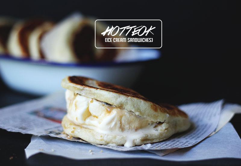 Hotteok (Korean Pancake) Ice Cream Sandwiches | The Sugar Hit!