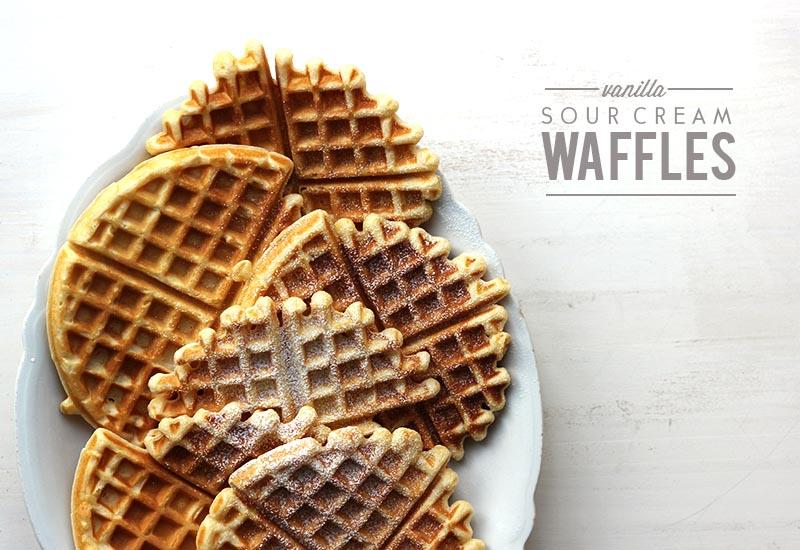 Vanilla Sour Cream Waffles | The Sugar Hit