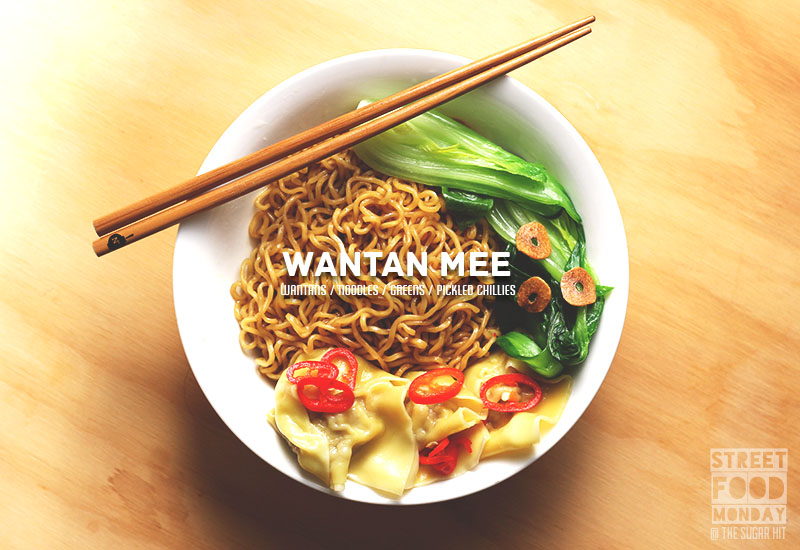 Wantan Mee = saucy noodles / silky wantans / tender greens / pickled chillies! | The Sugar Hit