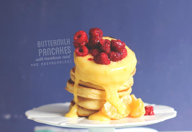 Buttermilk Pancakes with Mandarin Curd | The Sugar Hit