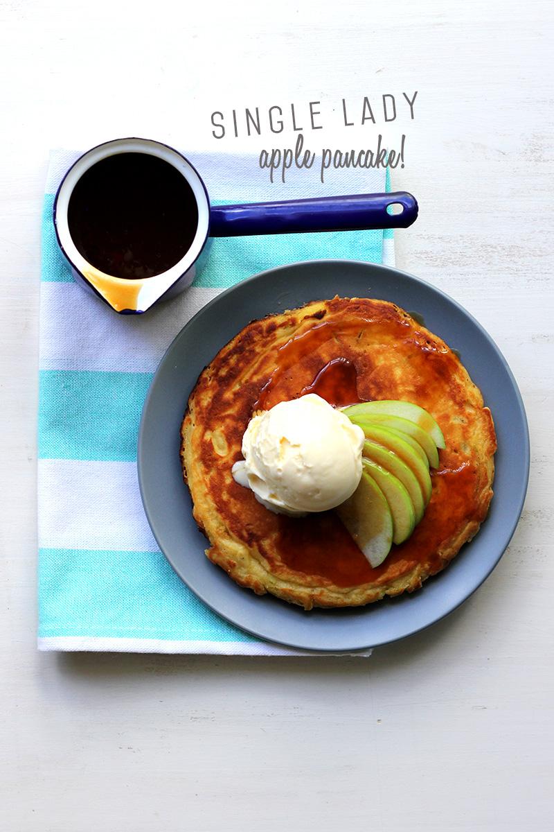 single lady apple pancake print the single lady apple pancake tastes ...