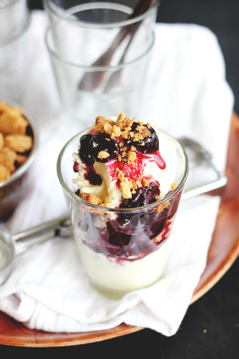 Cherry and Mascarpone Cheesecake Sundaes | The Sugar Hit