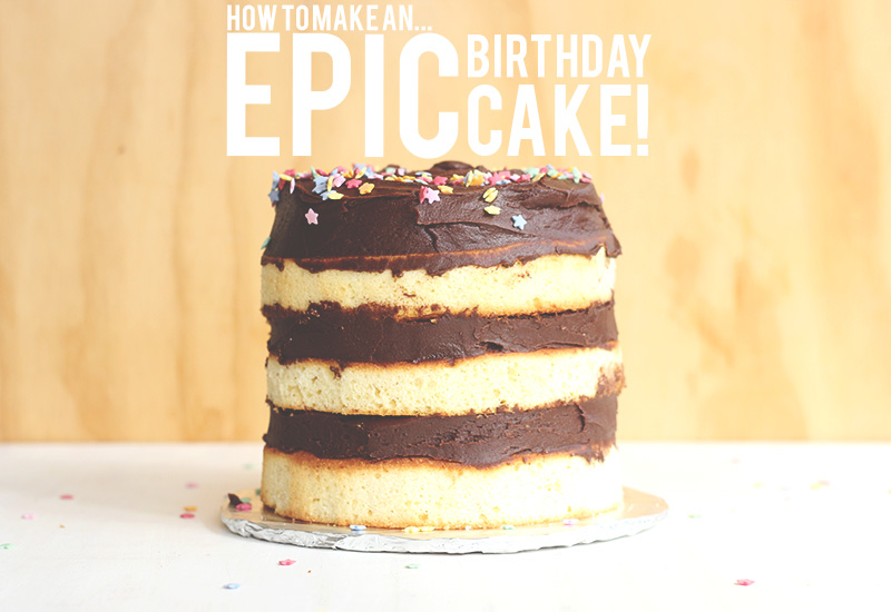 How to make an EPIC Birthday Cake | The Sugar Hit