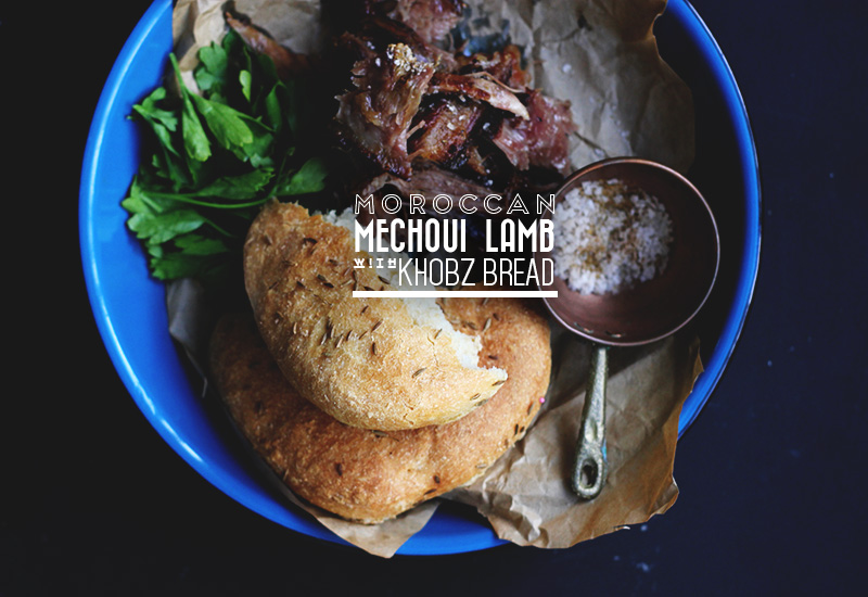 Moroccan Mechoui Lamb with Khobz Bread | The Sugar Hit