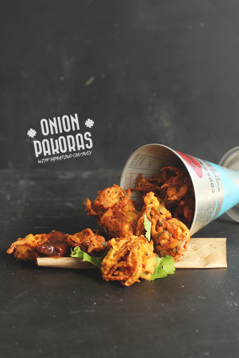 Onion Pakoras with Tamarind Chutney | The Sugar Hit