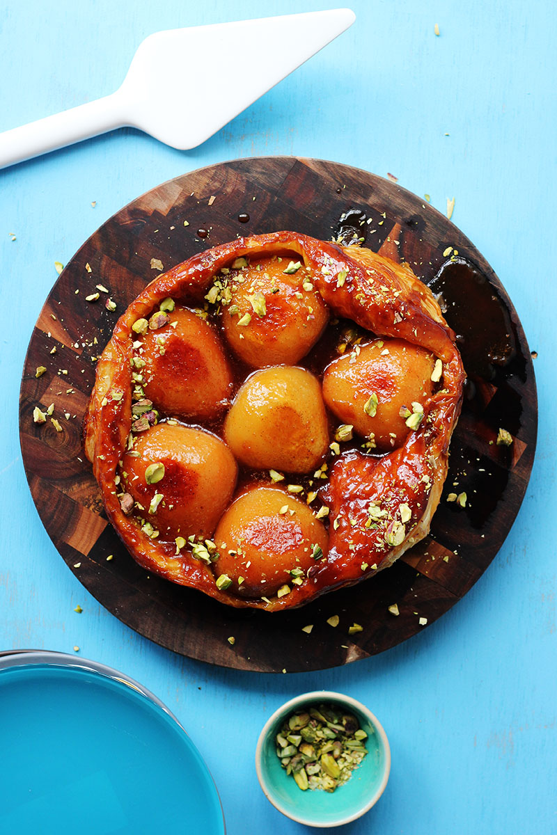 Pear Tarte Tatin with Pistachio and Vanilla | The Sugar Hit